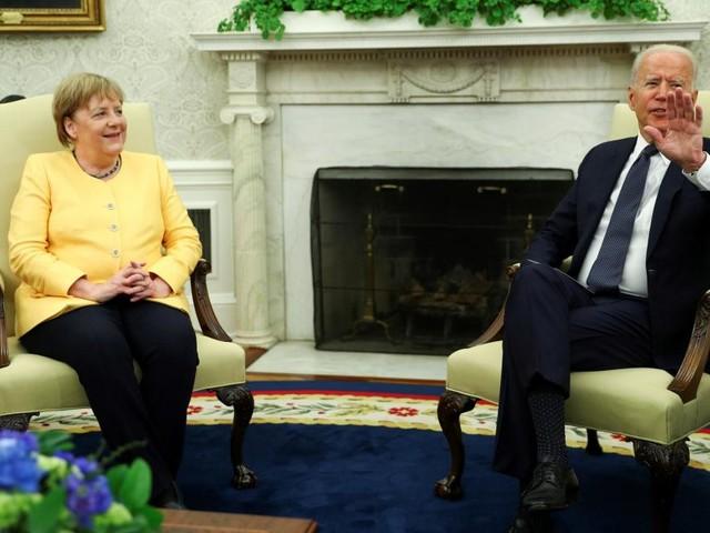 Kanzlerin Merkel kam zu ihrem vierten und letzten US-Präsidenten