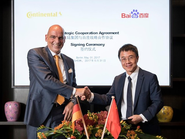 Continental kooperiert mit Baidu und NIO