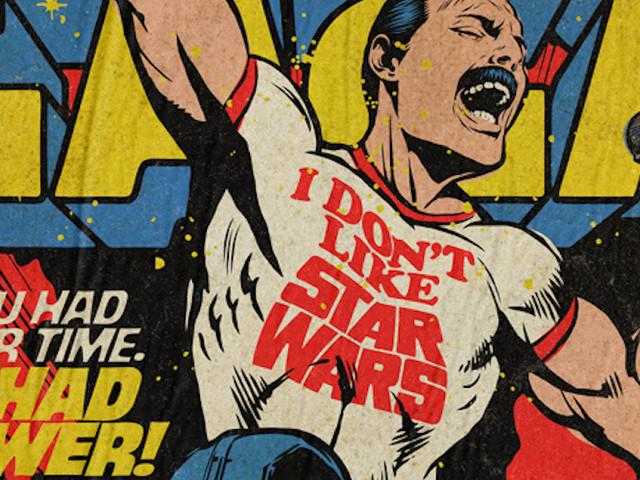'Planet Mercury' – Queen-Songs als Vintage Comic Cover von Butcher Billy