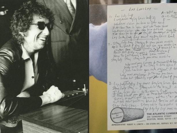Songtext von Bob Dylan wird versteigert