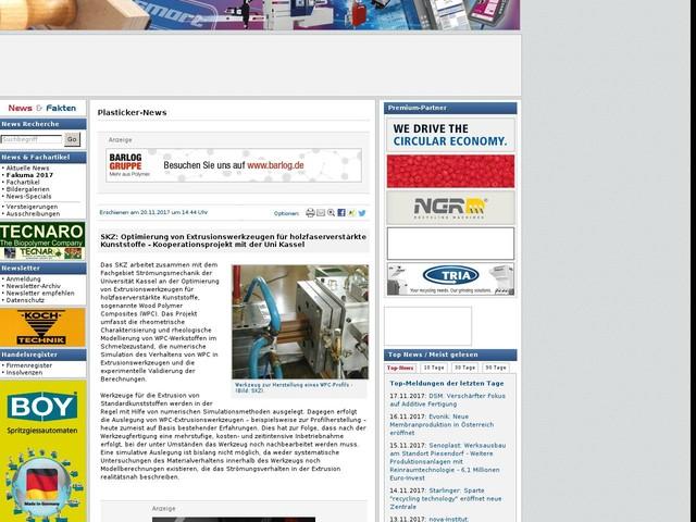 SKZ: Optimierung von Extrusionswerkzeugen für holzfaserverstärkte Kunststoffe - Kooperationsprojekt mit der Uni Kassel