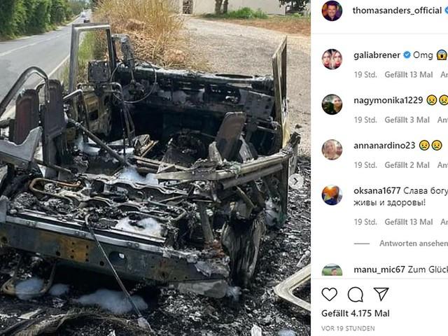 Ibiza: Schock für Thomas Anders und seinen Sohn – Auto steht plötzlich lichterloh in Flammen