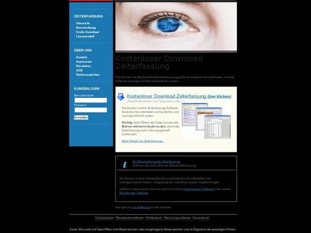 Kostenloser Download der Arbeitszeiterfassung Software für Windows