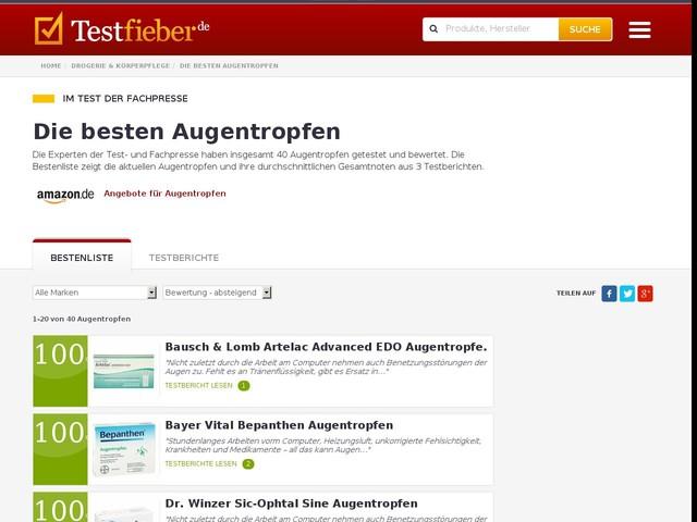 Augentropfen im Test | Testfieber.de