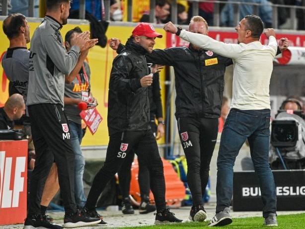 2. Bundesliga: Regensburg nach 3:2-Sieg gegen Aue vorerst Tabellenführer