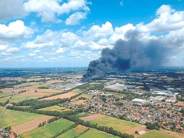 Münsterland: Rußwolke erreichte Saerbeck - mit Folgen
