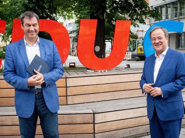 Laschet und Söder zum Wahlprogramm der Union