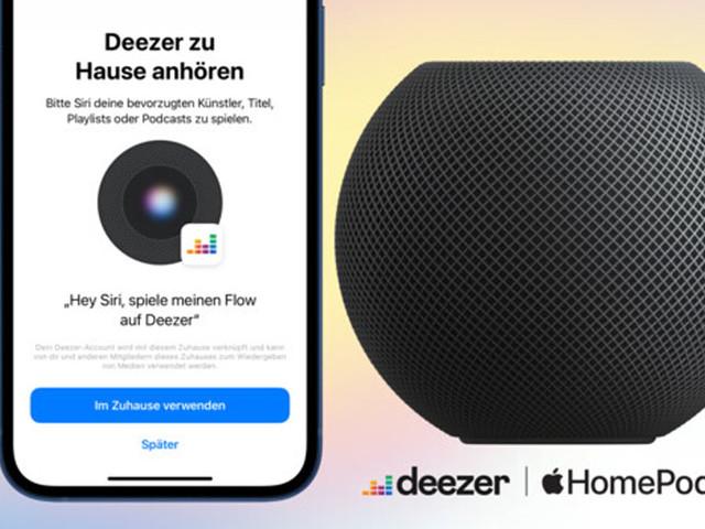 HomePod: Smarte Speaker streamen von Deezer