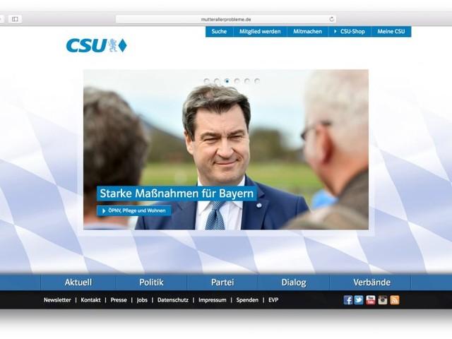 Jemand hat mutterallerprobleme.de registriert und auf die Website der CSU weitergeleitet