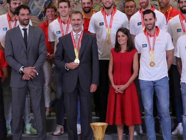 Zweiter WM-Titel: Spanisches Königspaar empfängt Basketball-Weltmeister