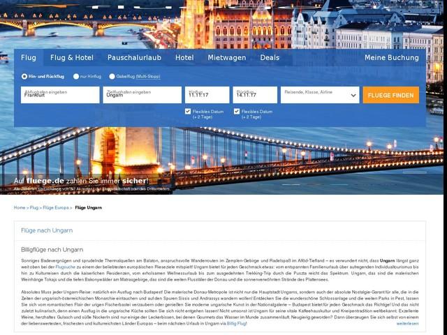 Flug Ungarn: Flüge & Billigflüge nach Ungarn günstig online buchen   fluege.de