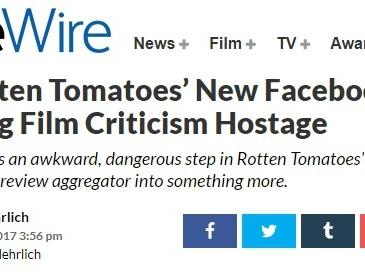 Ist RottenTomatoes neue Facebook-Show ein Schritt in die falsche Richtung?