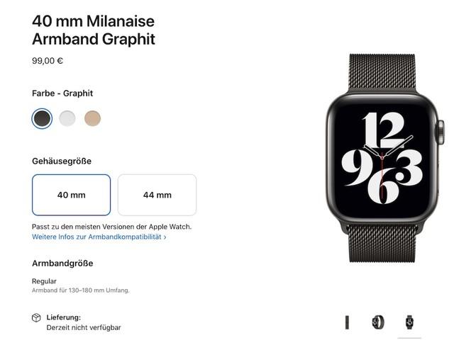 Redesign für die Apple Watch 7: Erste Vorgänger-Armbänder sind nicht mehr erhältlich