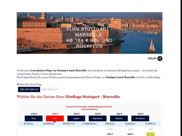Flug Stuttgart Marseille ab 164 € - Billigflüge Marseille, FRANKREICH   Air France