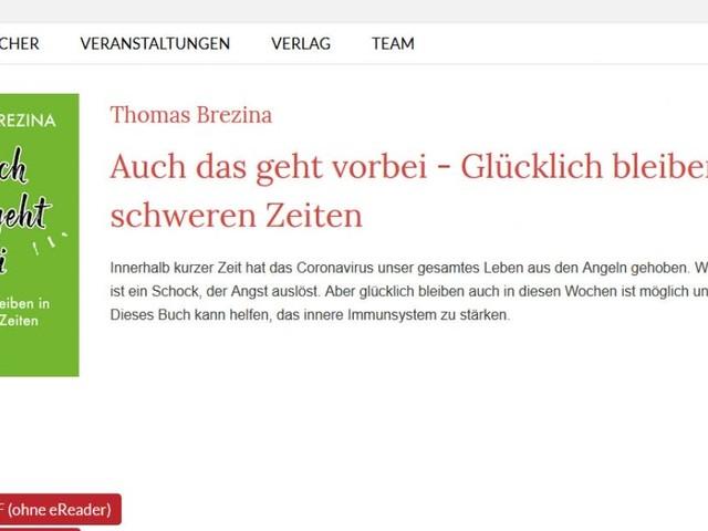 """""""Rettungsanker"""": Thomas Brezina schrieb in 3 Tagen ein Corona-Tipp-Buch"""