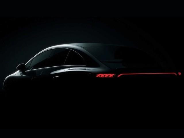 Mercedes-Benz EQE: Erste Teaserbilder veröffentlicht