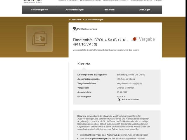 Einsatzstiefel BPOL + S3 (B 17.18 - 4911/16/VV : 3)