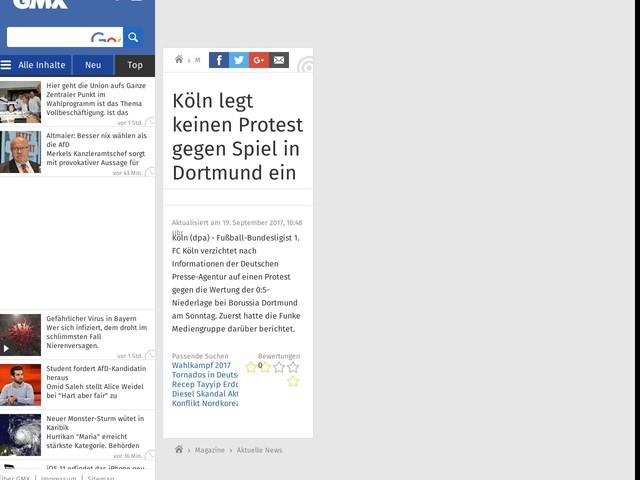 Köln legt keinen Protest gegen Spiel in Dortmund ein