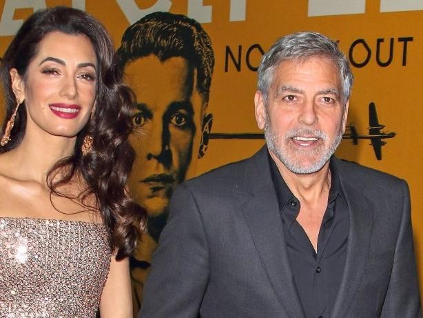 Promi-Paar: Baby-Gerüchte um George und Amal Clooney: Wieder Zwillinge?