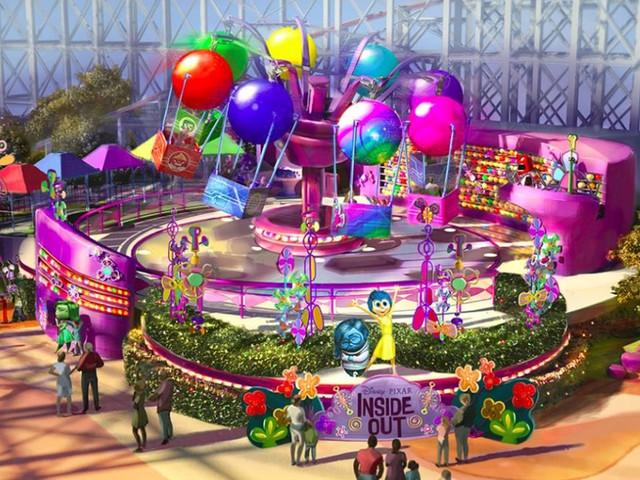 """Disney California Adventure erweitert """"Pixar Pier"""" 2019 um Attraktion zu Alles steht Kopf"""