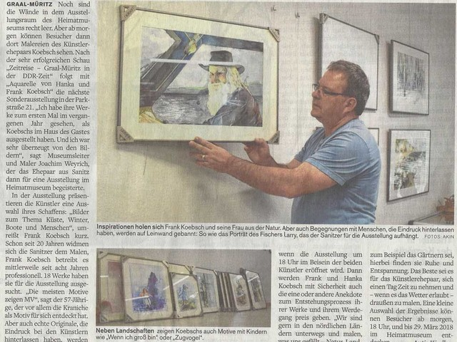 Aquarelle von Hanka & Frank Koebsch im Heimatmuseum Graal Müritz