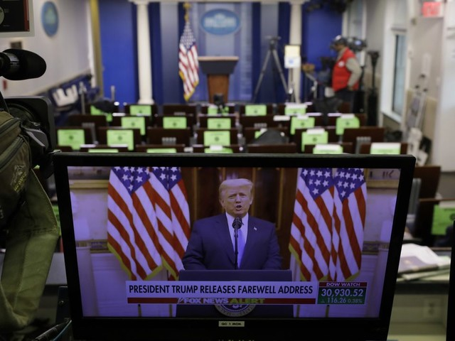 Donald Trump verteidigt in Abschiedsrede seine Regierungsbilanz