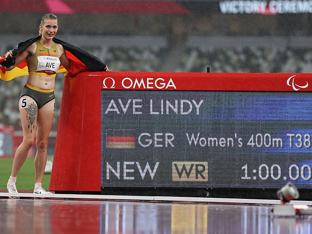 Olympia: Para-Sprinterin Ave holt Gold mit Weltrekord