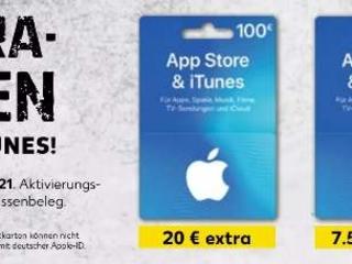 Bis zu 20% Bonusguthaben auf iTunes Karten bei Kaufland – erst ab Donnerstag