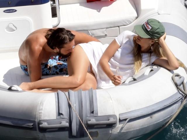 In den Flitterwochen: Tom Kaulitz küsst Heidi Klums Po!