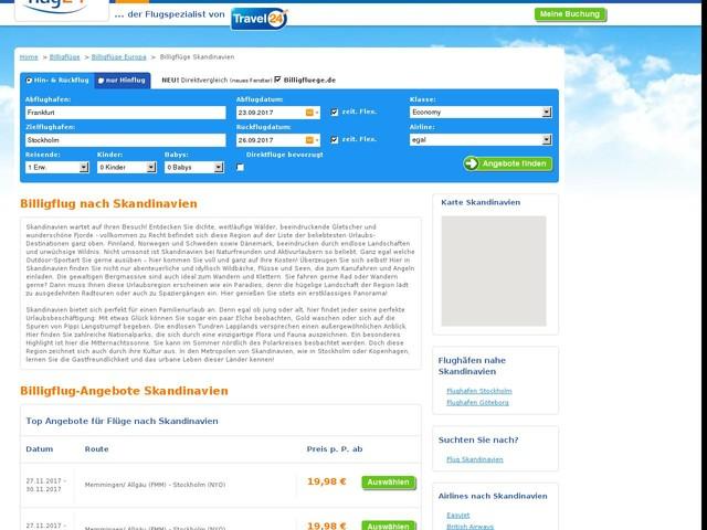 Billigflug Skandinavien - Angebote vergleichen & online buchen | Flug24.de