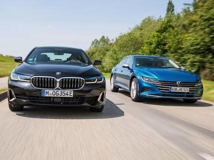 VW Arteon, BMW 5er: Test, Motor, Preis, Plug-in-Hybrid Plug-in-Hybride im Vergleich: Kann der Arteon mit dem 5er mithalten?