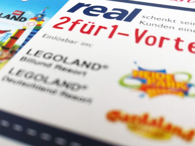 Gutschein von real für Freizeitparks: 2-für-1-Vorteil 2018 für LEGOLAND, Gardaland und mehr sichern!