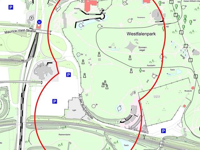Bombenfund: Entschärfung von vier Blindgängern im Westfalenpark - keine Anwohner*innen betroffen