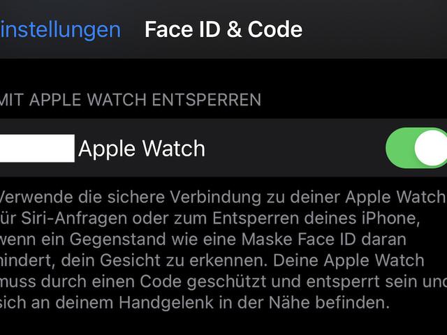 """""""Mit Apple Watch entsperren"""" bereitet beim iPhone 13 Probleme"""