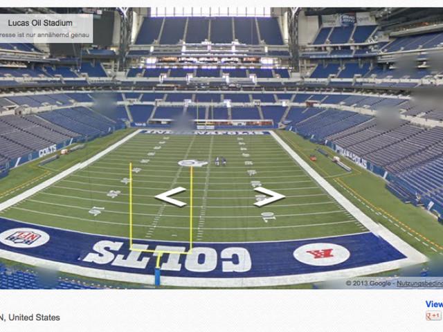 Bis in die Endzone: Google Street View covert das Stadion der Indianapolis Colts