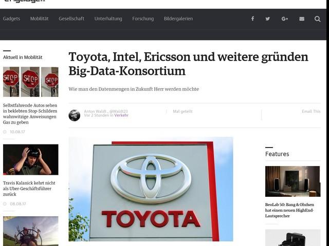 Toyota, Intel, Ericsson und weitere gründen Big-Data-Konsortium