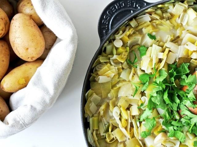 Lauchsauce mit Kartoffeln: Ein starkes Paar