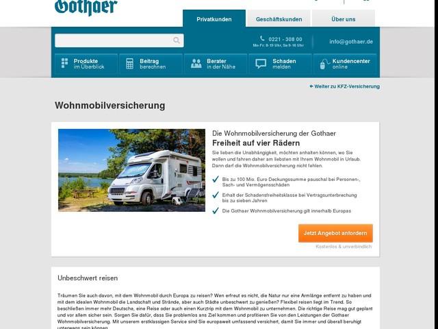 DiegünstigeWohnmobilversicherung | Gothaer