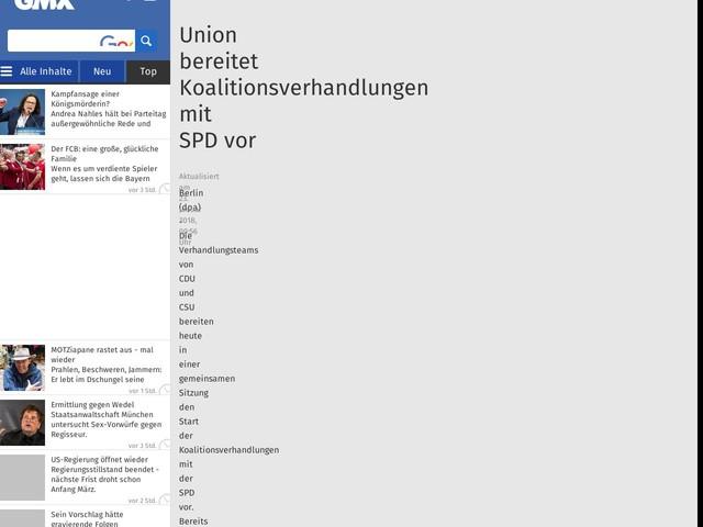 Union bereitet Koalitionsverhandlungen mit SPDvor