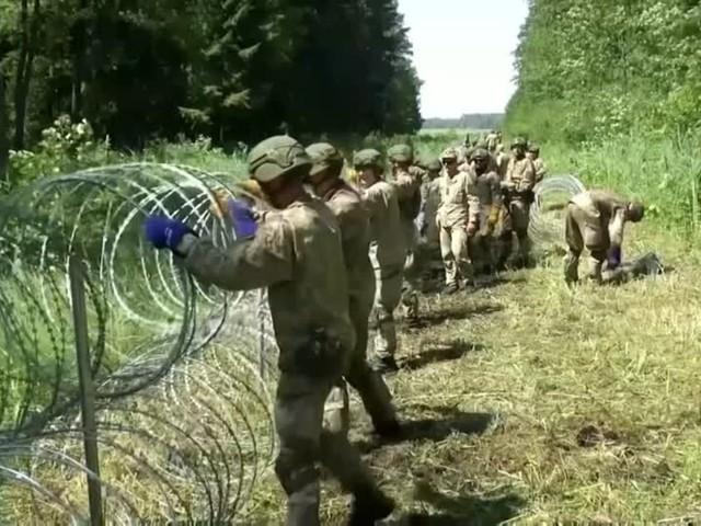 Video: Litauen beginnt mit Bau von Barriere an Grenze zu Belarus