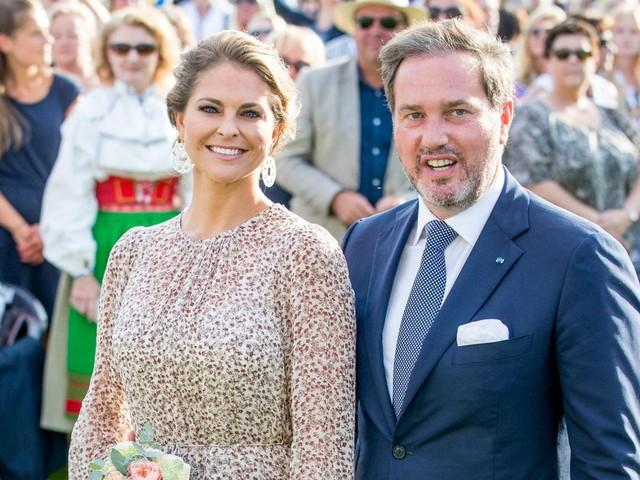 Prinzessin Madeleine: Prinzessin Madeleine ist mit ihrer Familie in Schweden angekommen