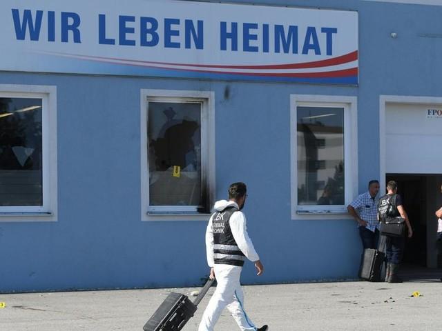 Brandanschlag auf FPÖ-Zentrale: Verdächtiger festgenommen