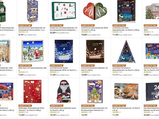 Adventskalender im Amazon-Tagesangebot - Weihnachtliche Vorfreude zum Schenken, Schmecken und Schmücken