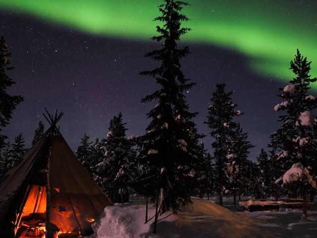 Schwedisch-Lappland: Der Himmel spielt Theater