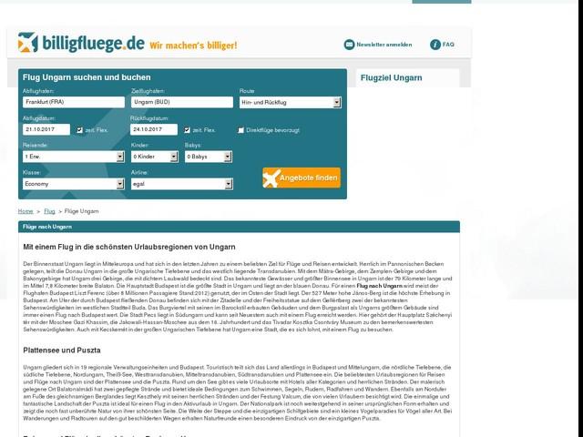 Flüge Ungarn online buchen - den besten Preis finden - billigfluege.de