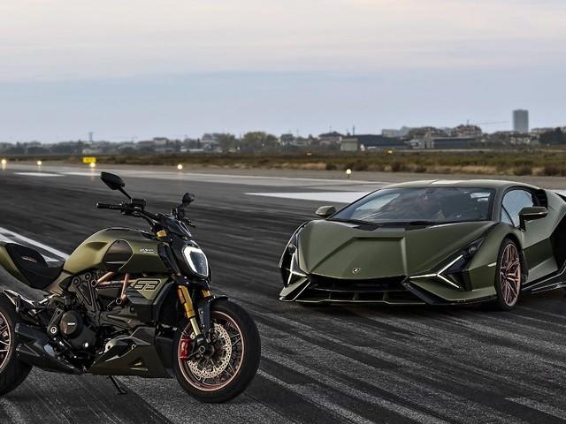 Wilde Mischung: Ducati bringt Lamborghini auf zwei Rädern