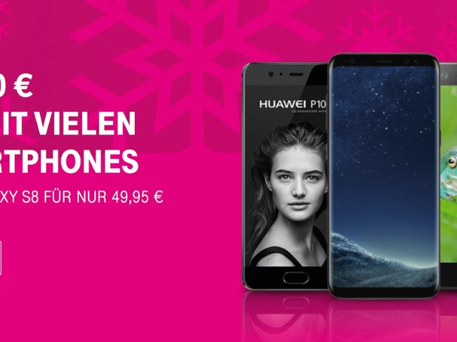 Telekom Aktion: Bis zu 100 Euro Rabatt auf iPhone 8, iPhone 7, Samsung Galaxy S8, Huawei Mate 10 Pro uvm.