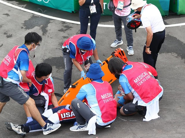 Olympia 2021: Schwere Stürze bei BMX-Rennen – US-Star Fields betroffen