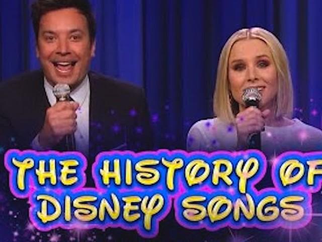 Jimmy Fallon & Kristen Bell führen durch die 'History of Disney Songs'