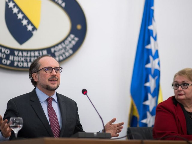 Bosnier und Serben sehen in Schallenberg einen Freund des Balkans